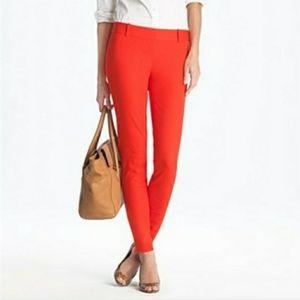 NWT J. Crew Minnie Red Pants   size 00